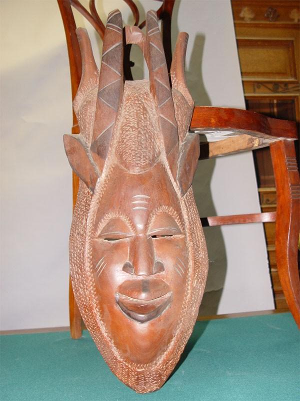 Антиквариат. африканская Маска, дерево, резьба. Африка