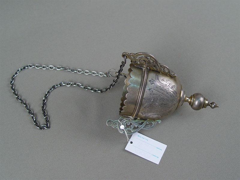 Лампада, серебро 84пробы, гравировка, общий вес— 177г