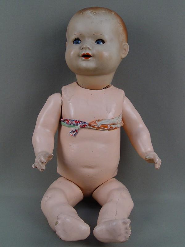 Антиквариат. старинная Кукла, папье-маше. антикварные игрушки