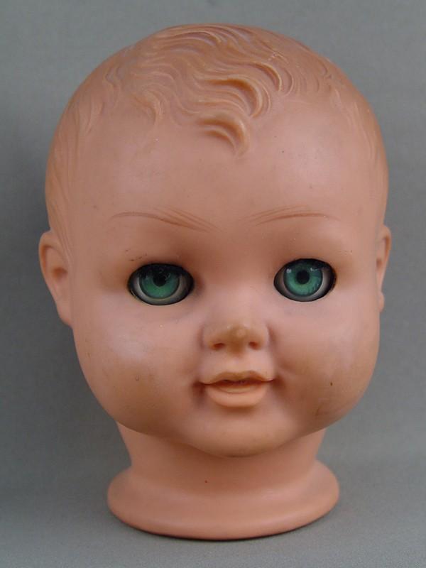 Антиквариат. антикварная Голова куклы, пластик