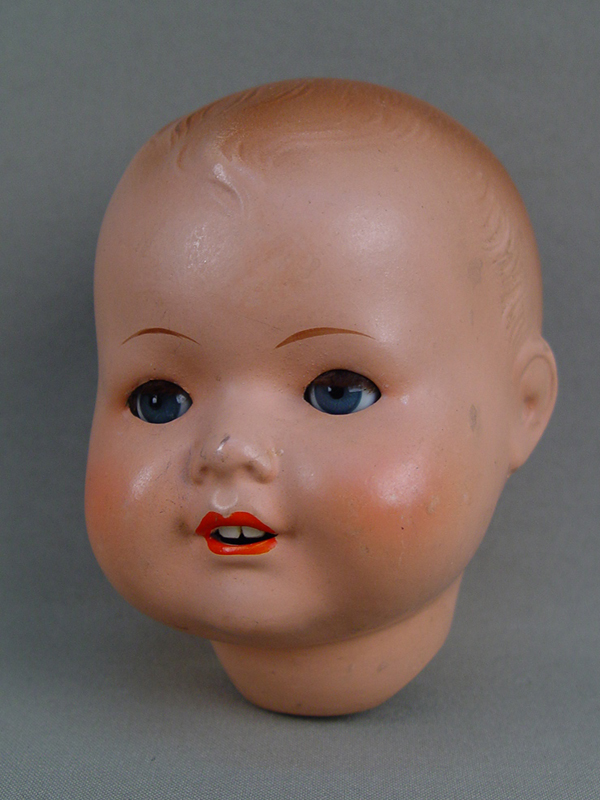 Антиквариат. Голова куклы, папье-маше