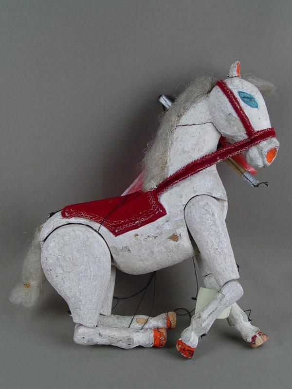 Антиквариат. антикварная Кукла-марионетка «Лошадь». кукольный театр