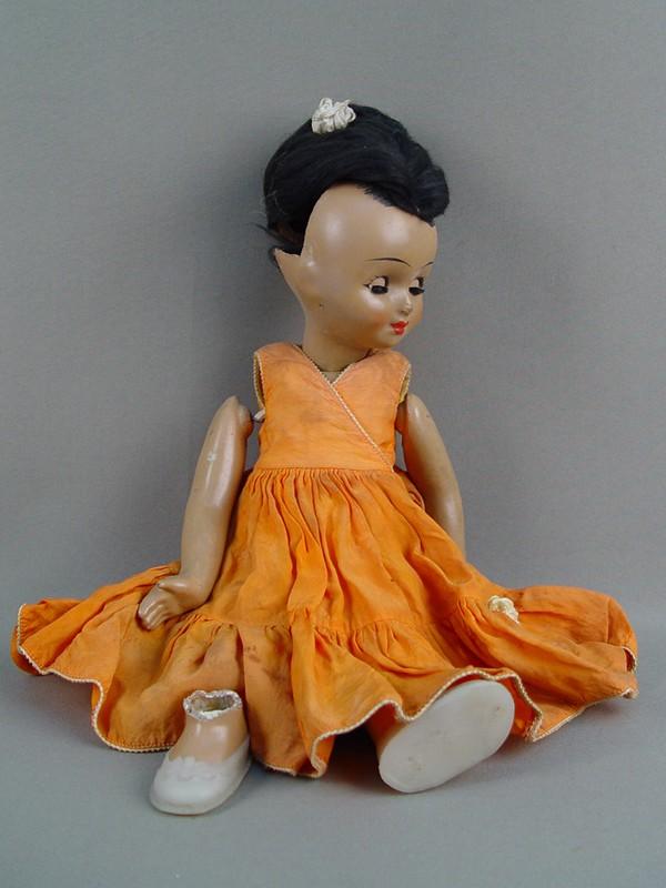 Антиквариат. антикварная Кукла, папье-маше