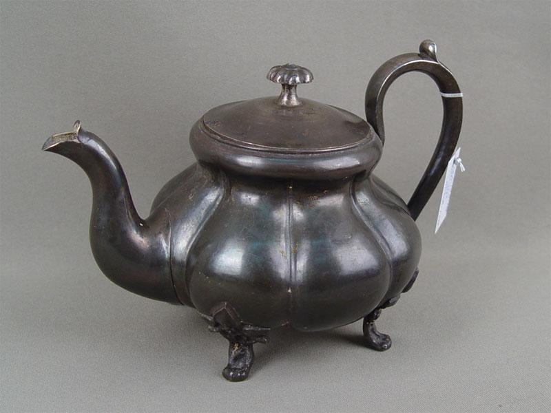 Чайник, серебро 84пробы, Москва, 1855 г. общий вес— 363г