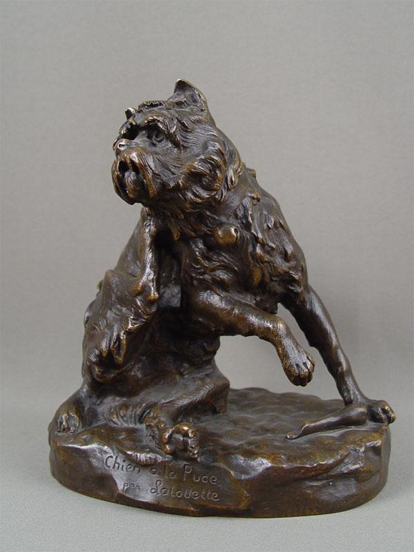 «Блохастый пес», бронза, литье, патинирование. Франция, XIXвек, высота— 20см