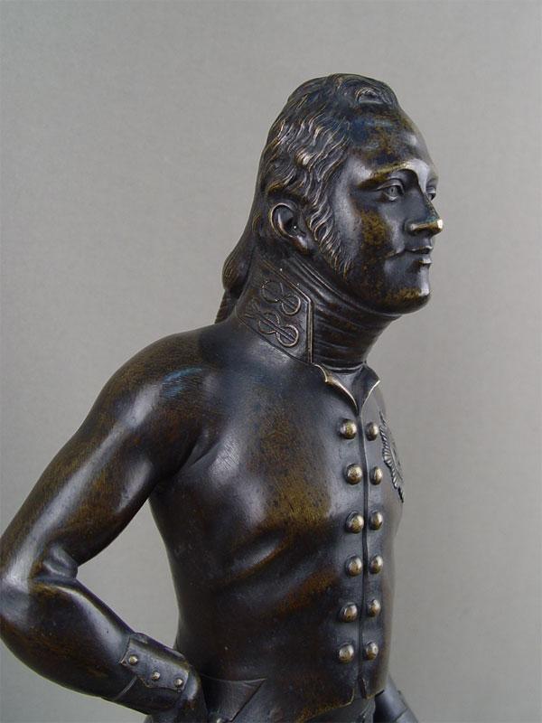 «Александр I», бронза, литье, патинирование. Западная Европа, 19век. высота— 45см