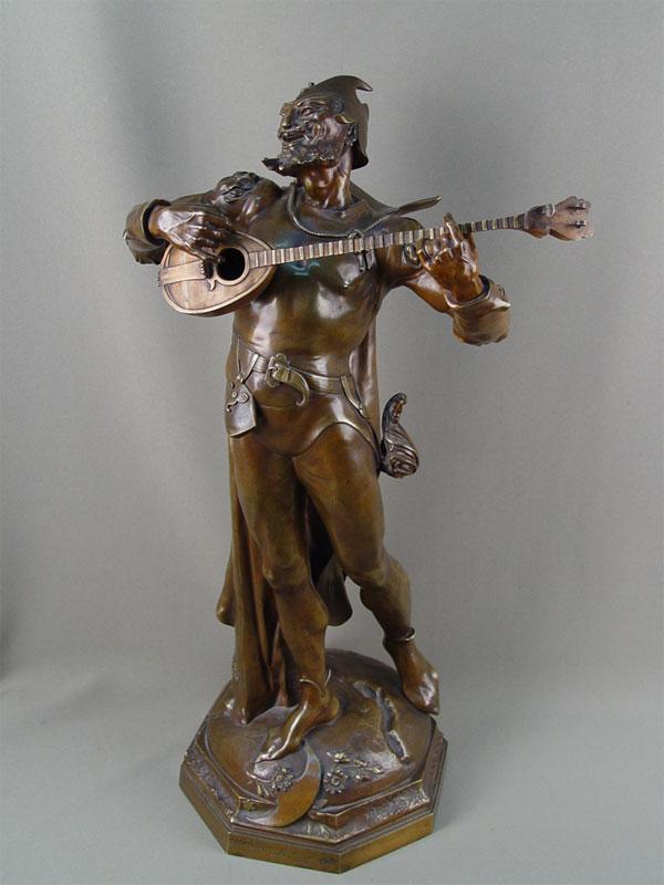«Мефистофель смандолиной», бронза, литье, патинирование. Западная Европа, 19 век, высота— 59см