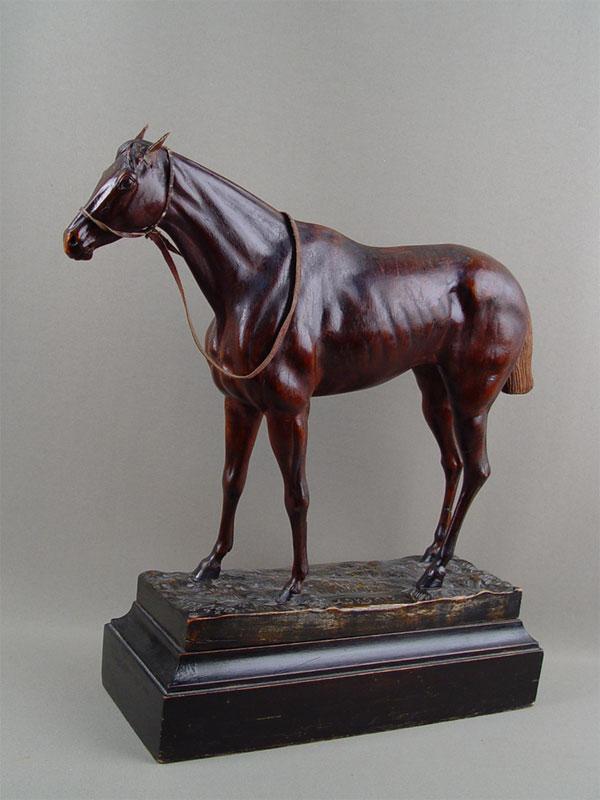Антиквариат. антикварная скульптура. «Лошадь», дерево