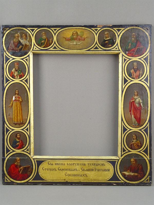 Рама дляиконы «Собор Святых», дерево, масло, 47×44см (31×26см)
