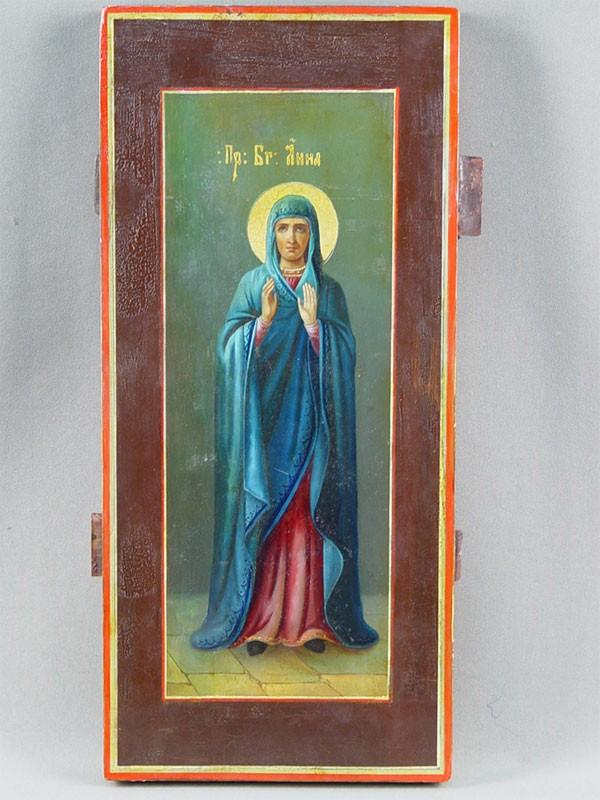 Икона «Святая Пророчица Анна», дерево, масло, 39×28см