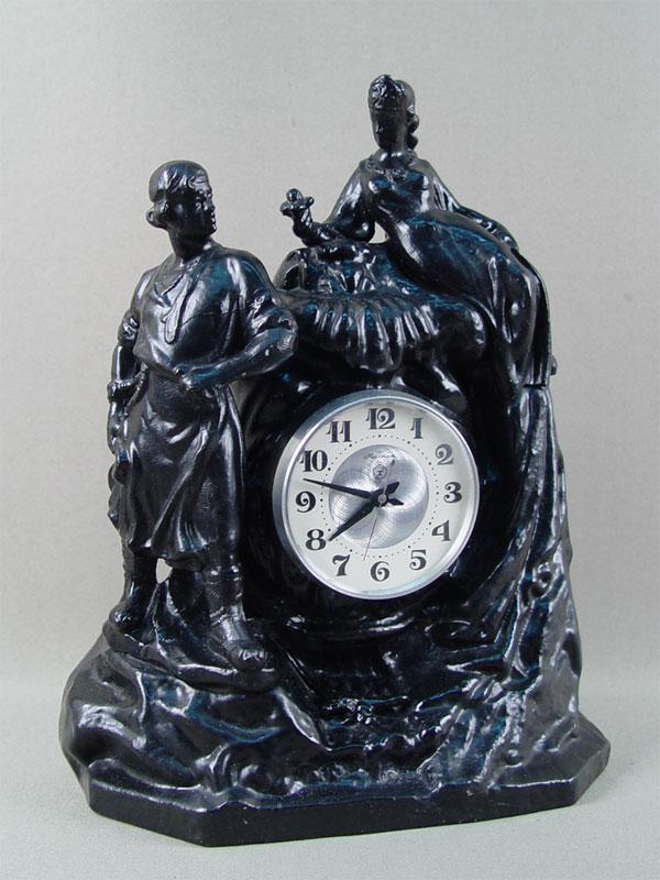 Антиквариат. антикварные Часы «Хозяйка медной горы»