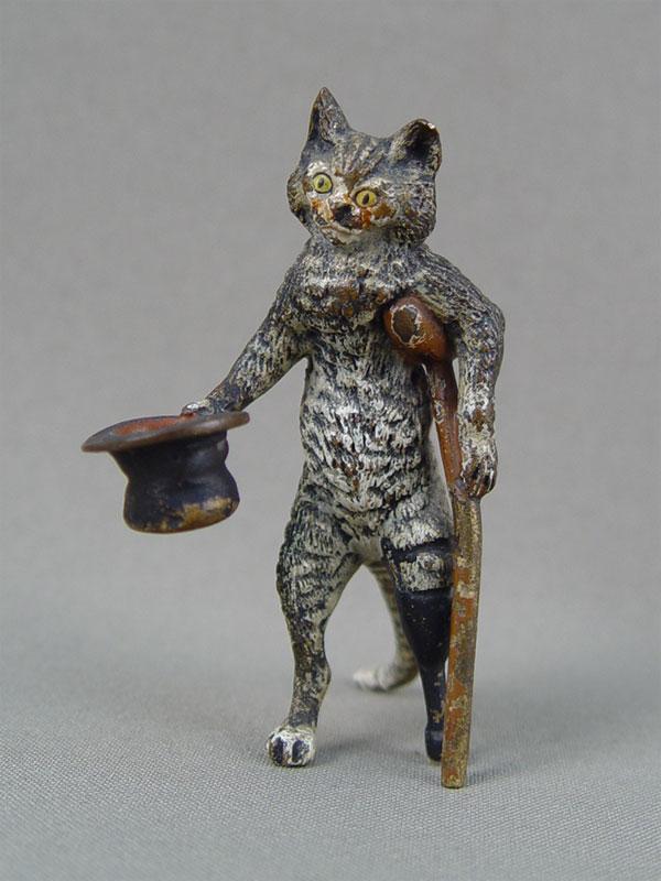 «Кот— попрошайка», венская бронза,конец 19 — начало 20 века, высота— 7,5см