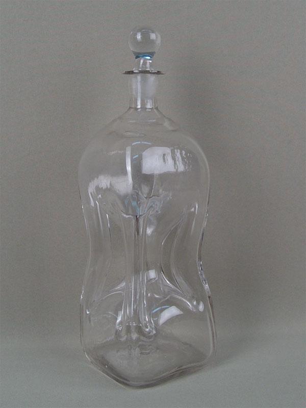 Антиквариат. антикварный стеклянный Графин, стекло