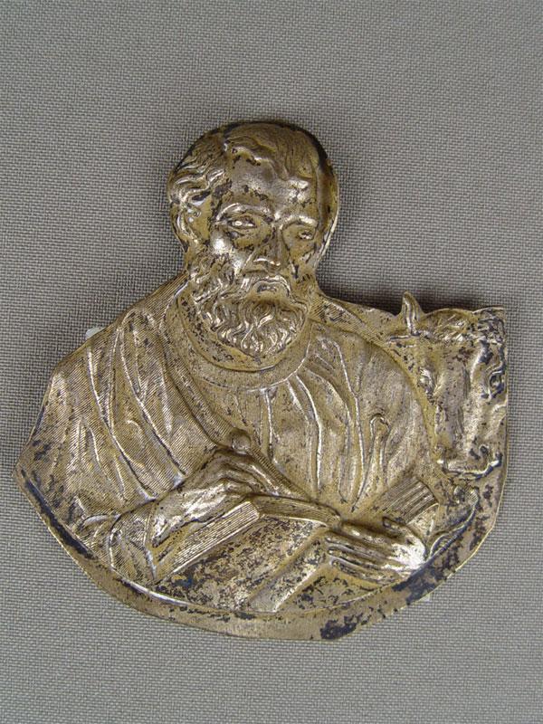 Антиквариат. Накладка на Евангелие «Святой Евангелист Лука»