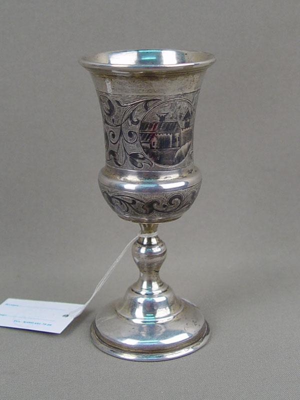 Бокал, серебро 84пробы, чернь, общий вес— 67,76г, высота— 11,5см