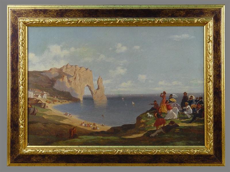 Арман, «На морском берегу», холст, масло, 30×45см, 1862год