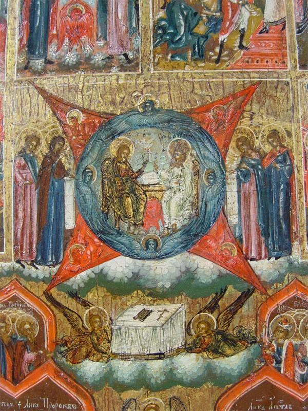 Икона «Шестоднев», дерево, левкас, темпера. Палех, XIXвек, 36×29,2см