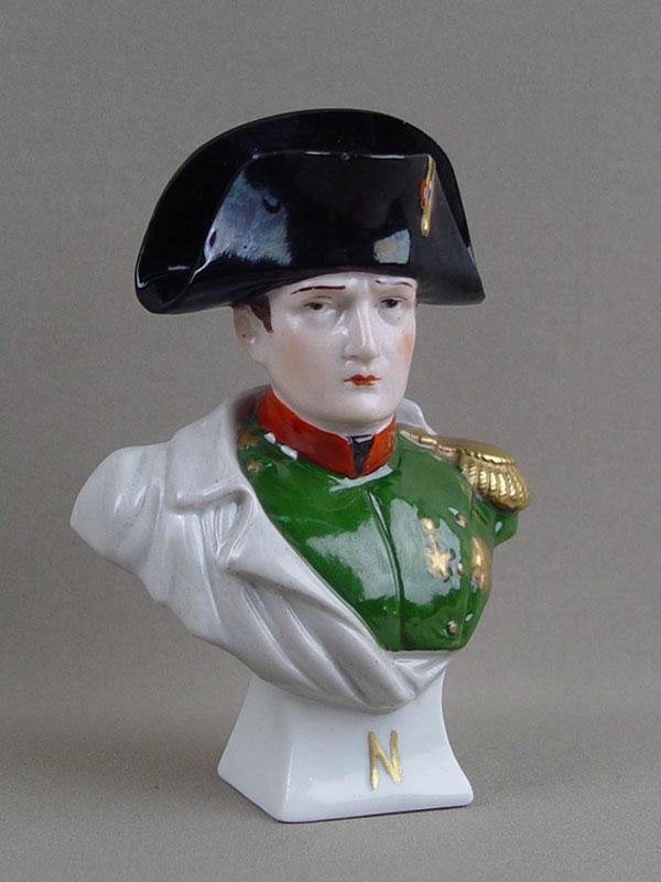 Бюст «Наполеон», фарфор, роспись, высота— 13см