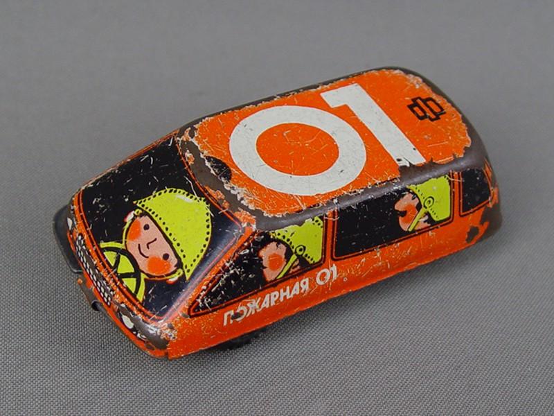 Антиквариат. старинная Игрушка машина «Пожарная». советский игрушки. автомобиль