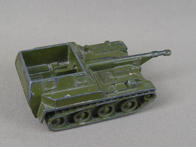 Антиквариат. старинная Игрушка «Самоходка. танк»