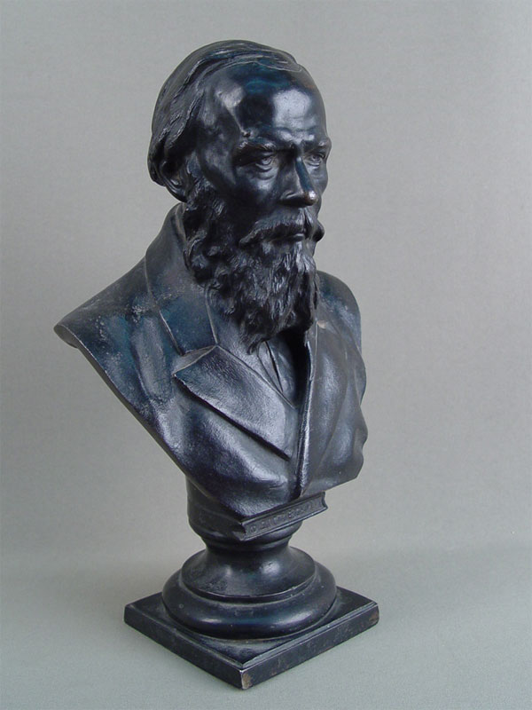Антиквариат. Бюст «Ф.М.Достоевский», чугун