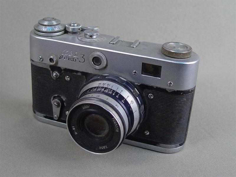 Антиквариат. антикварный Фотоаппарат «ФЭД». СССР