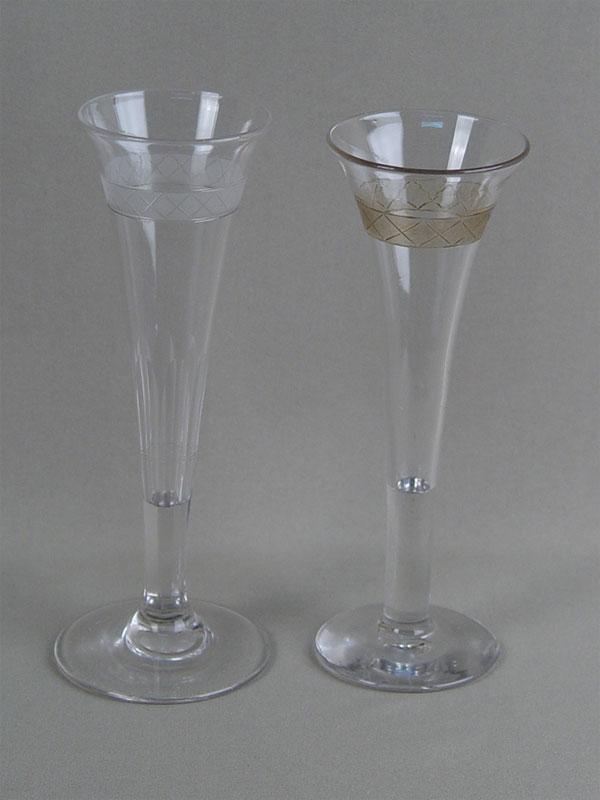 Антиквариат. бокал «Флейта», стекло. Императорский стеклянный завод