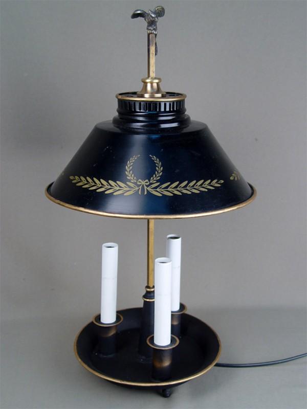 Настольная лампа на3точки, латунь, высота— 49см