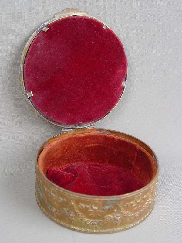 Шкатулка, бисер, бронза, диаметр— 11см