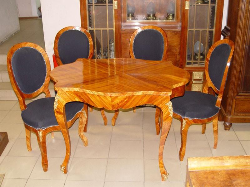 Антиквариат. Гарнитур гостиный. стол. стулья, розовое дерево