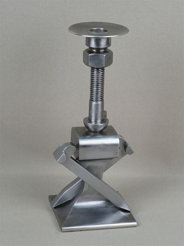 Подсвечник железнодорожный, металл, никелирование, высота— 26см