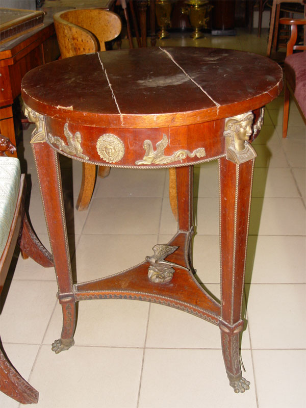 Антиквариат. Столик ампир, красное дерево. антикварная мебель