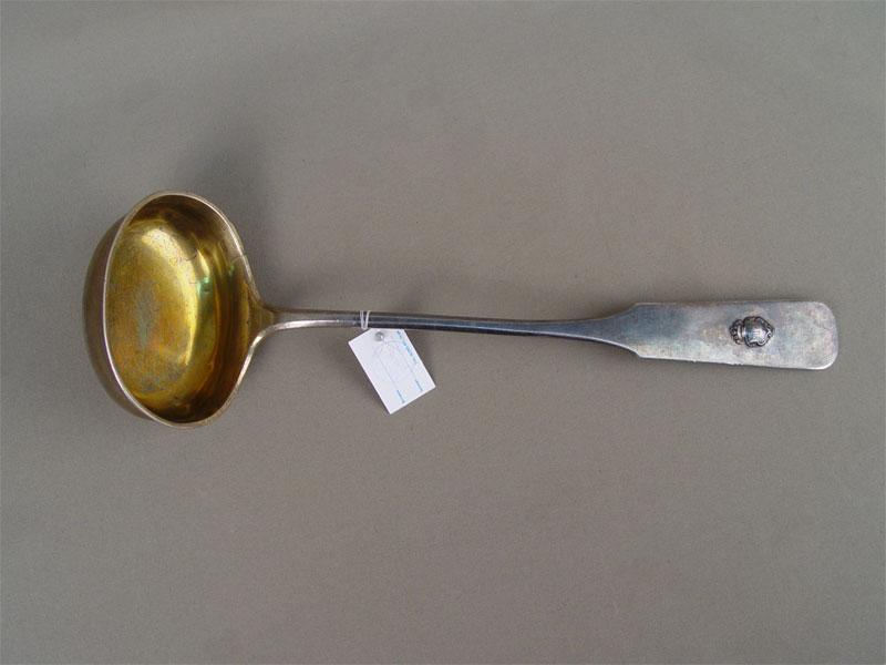 Половник, серебро 84пробы, общий вес— 246г., 1862год