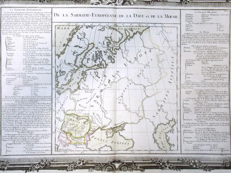 Антиквариат. Карта европейской Сарматии. Европа. Сарматия.