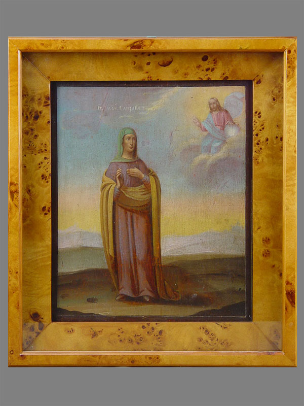 Икона «Святая Мученица Елизавета», дерево, масло, XIXвек, 31×27см; киот