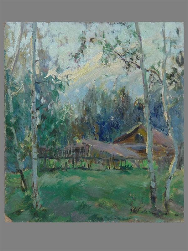 Антиквариат. Гуляев В.В., «Деревня. пейзаж»