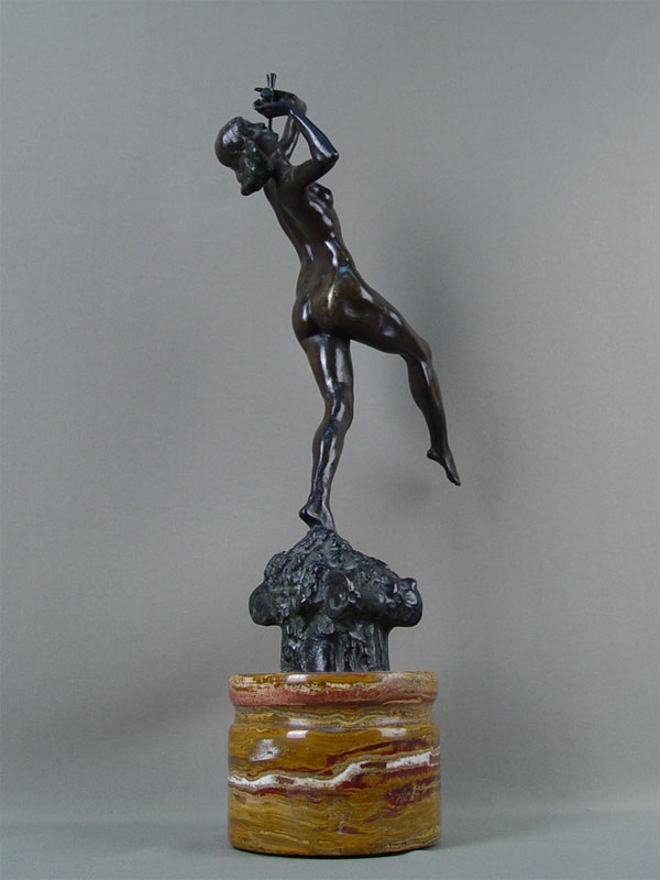 Антиквариат. «Танцовщица. флейта. танец музыка», бронза