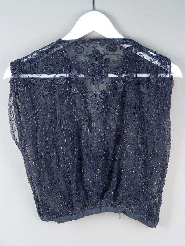 Фрагмент платья, вышивка, бисер, начало XXвека