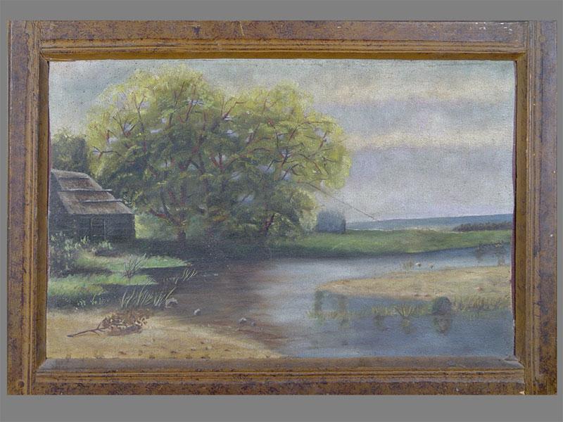 Антиквариат. старинная картина. Пейзаж