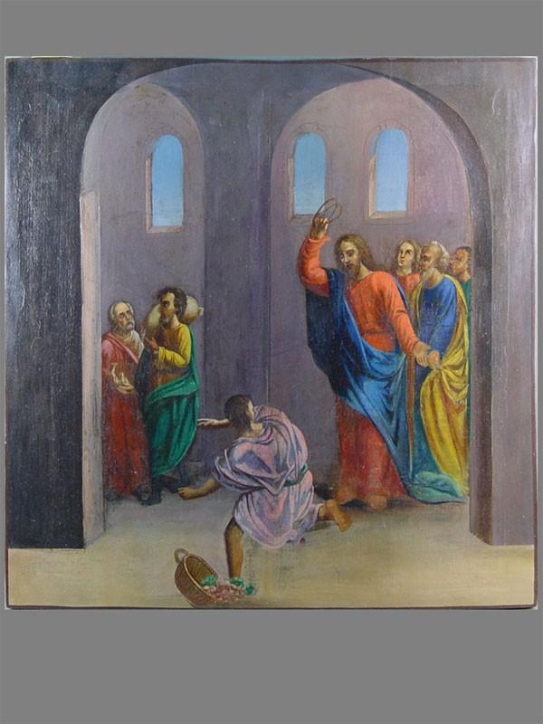 Антиквариат. Икона Христос изгоняет торговцев из храма