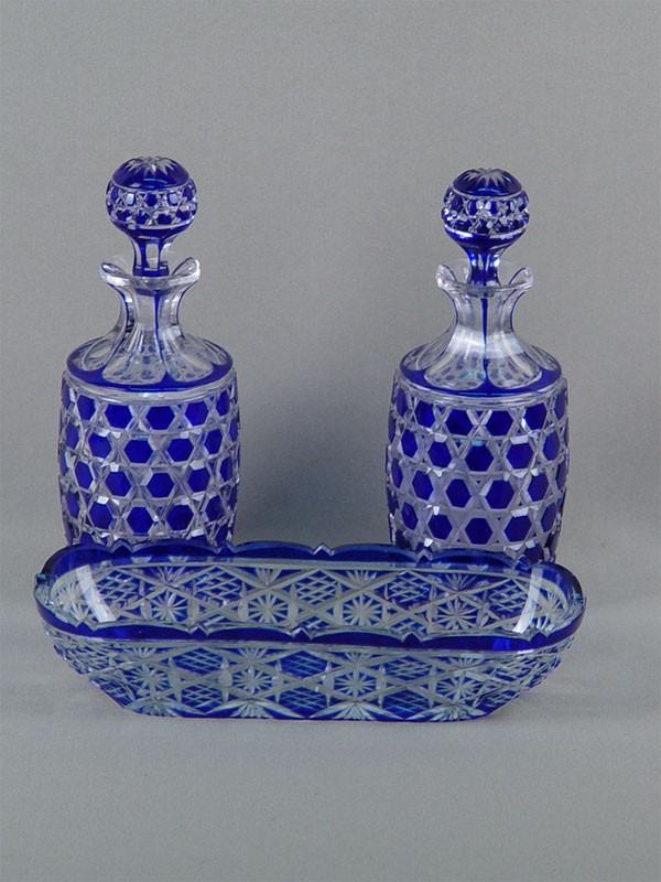 Антиквариат. Набор парфюмерный, двухслойное стекло