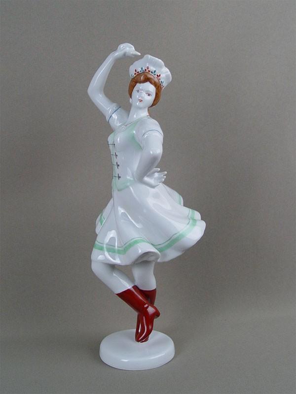 Антиквариат. «Венгерский танец», фарфор. Венгрия