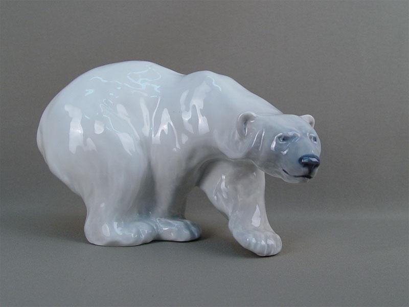 Антиквариат. «Белый медведь», фарфор, Копенгаген
