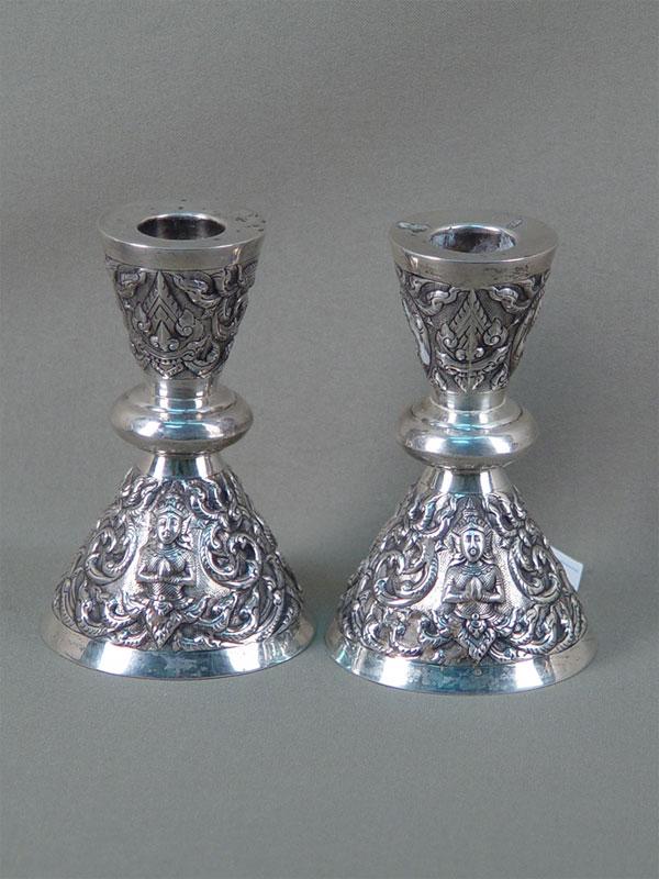 Антиквариат. серебряный подсвечник, серебро 925 пробы