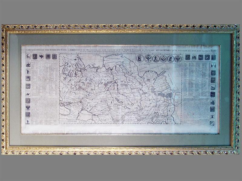 Антиквариат. Общая карта государства Московия. старинная карта России