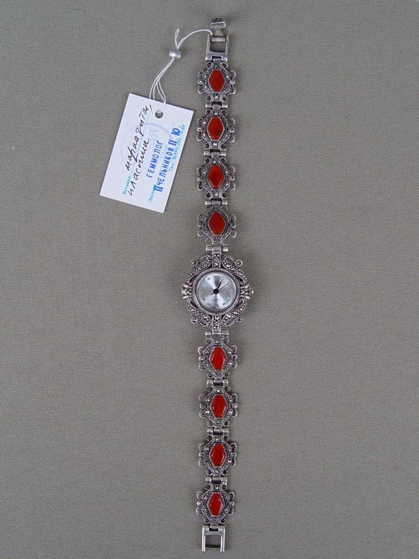Антиквариат. Часы наручные дамские, серебро