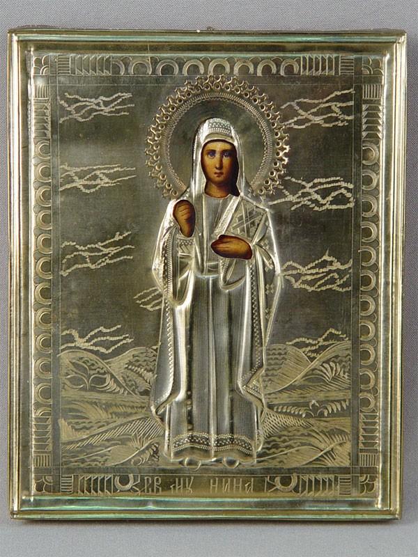 Антиквариат. Икона «Святая Мученица Нина»