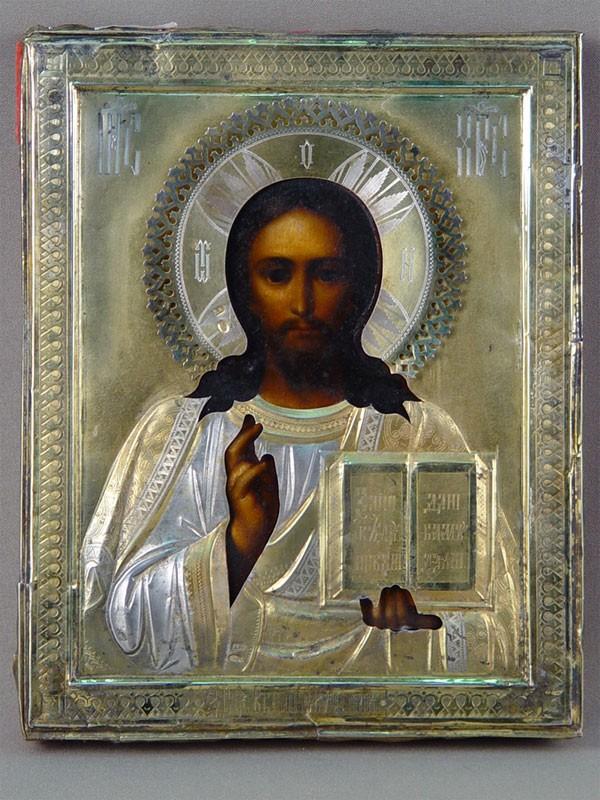 Антиквариат. Икона «Господь Вседержитель»
