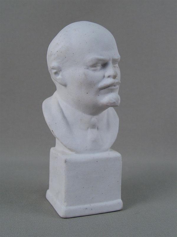 Антиквариат. Бюст «В.И.Ленин», бисквит. СССР