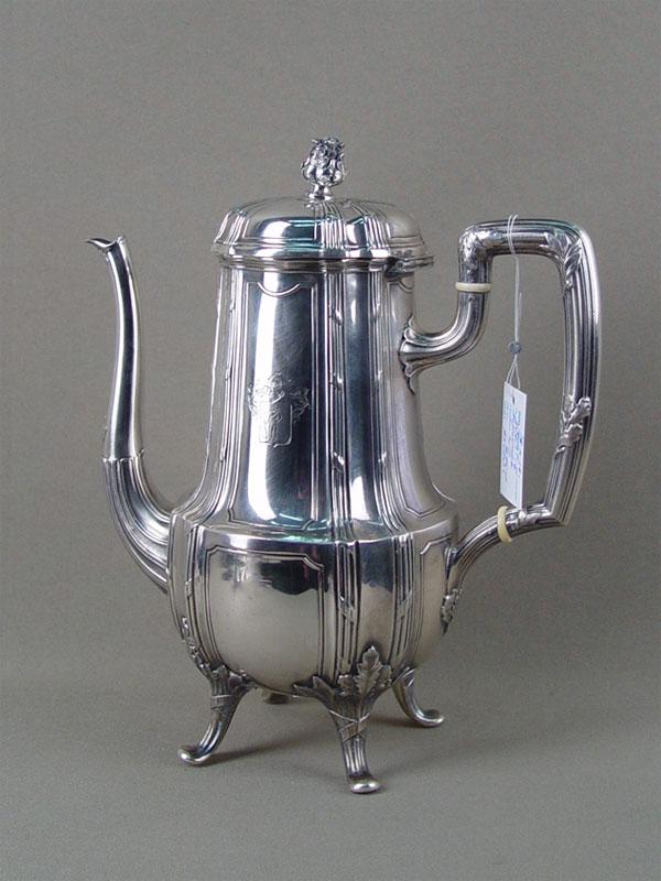 Антиквариат. серебряный Кофейник, серебро